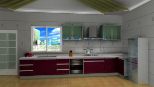 Stainless Steel Kitchen Furniture (MK004)