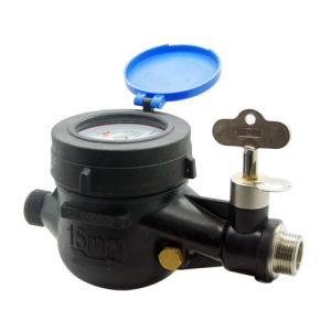 Multi Jet Dry Type Vane Wheel Water Meter with Valve Integrated