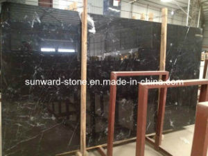 Castle Black Marble Slabs for Countertops