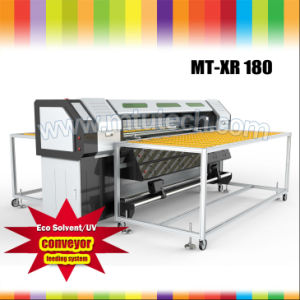 Favorites Compare 1.8m Flatbed and Roll to Roll UV Printer R180 on LED Lamps Dx5 Print Heads pictures & photos