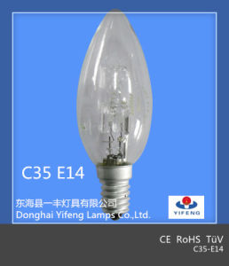 Eco Energy Saving C35 18W, 28W, 42W, 52W, 70W, 100W Halogen Bulb with CE, RoHS Approved pictures & photos