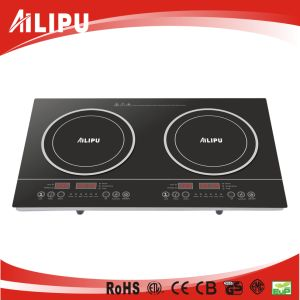 CE Certificate with Plastic Housing Low Price Touch Model 2 Burners Induction Cooker pictures & photos