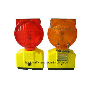 Solar Safety Flashing LED Warning Light for Road Barricade Pjwl202