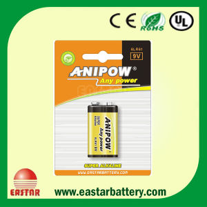 6lr61 Battery 9V Battery Primary Battery Zn/Mno2 Battery Dry Cell Battery 9V pictures & photos