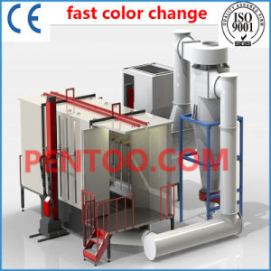 Fast Color Change Powder Booth with Big Cyclone Recovery System pictures & photos