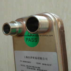 China Refrigerant to Water Copper Brazed Type Heat Exchanger pictures & photos