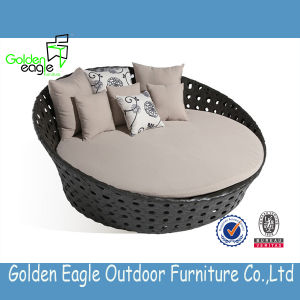 Round Sun Bed Round Sofa Rattan/Wicker Sunbed pictures & photos