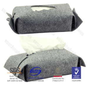 China Manufacture Decoration Felt Handmake Tissue Box pictures & photos