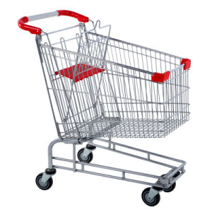 Good Quality 60-210 Liters Foldable Shopping Cart with Handle Wheels and Baby Seats Cheap with CE Certification pictures & photos