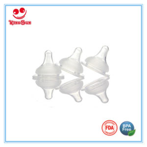 Newborn Silicone Nipples for Wide Neck Baby Feeding Bottles pictures & photos