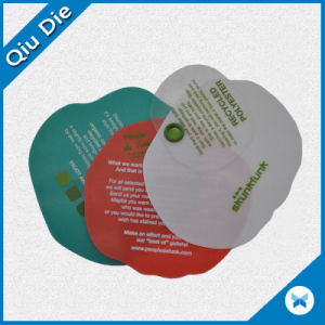 Round Apple Shaped Colorful Silk-Screen Printing Plastic Hang Tags pictures & photos