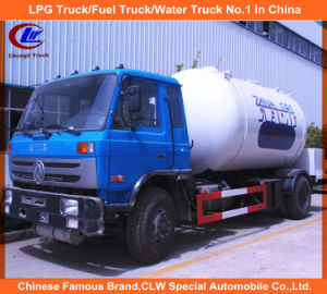Dongfeng 4X2 15000L 15m3 LPG Bobtail Filling Tank Truck pictures & photos