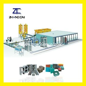Qty9-18 Type High Production Capacity Hydraulic Automatic Concrete Block Making Machine Line
