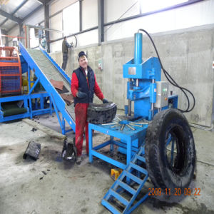 Xinda Zqj Whole Tire Cutting Machine High Quality Waste Tyre Recycling Machine pictures & photos