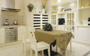 Wood Veneer Kitchen with Melamine or PVC Finish (zc-006) pictures & photos