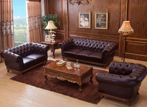 Modern Living Room Sectional Leather Sofa (SF-242)