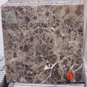Dark Emperador Marble Composite Floor Tile with Porcelain pictures & photos