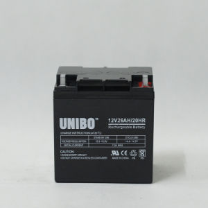 Solar Battery 12V26ah High Quality Solor System AGM Lead Acid Battery pictures & photos