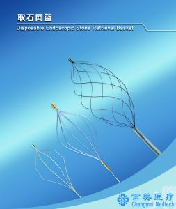 Changmei Medtech Disposable Endoscopic Stone Retrieval Basket - Spiral Shape CE Certificate pictures & photos