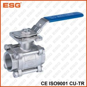Esg Stainless Steel Ball Valve with Mounting Pad pictures & photos