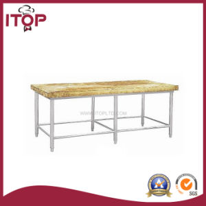 Stainless Steel Wooden Cutting Board Bench (BW-W24) pictures & photos