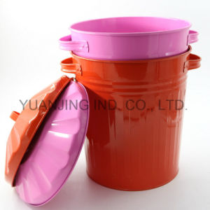 Supply Highquality Galvanized Metal Weste Bin Storage Can Colorful pictures & photos