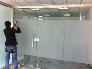4-12mm Acid Etched Glass for Shower Room / Office Wall pictures & photos
