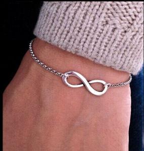 Fashionable Bijoux Infinity 8 Bracelet for Women Men