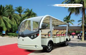 White 14 Seater Electric Sightseeing Bus pictures & photos