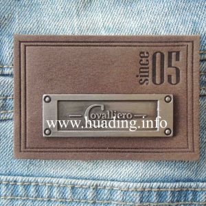 Customized Leather Patch for Garment (PA-09) pictures & photos