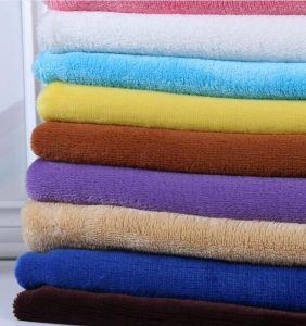 144f Plain Coral Fleece Flannel Cloth DIY pictures & photos