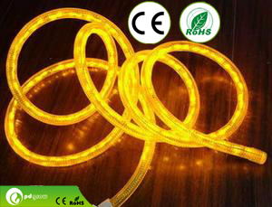 Long Lifespan DMX512 64LEDs/M 24V Color Changing LED Rope Light with CE & RoHS