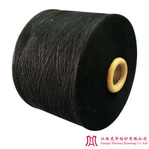 Recycled Black Cotton Polyester Yarn (10-21s)