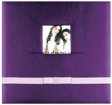 Screw-Post Bound Silk Fabric Family Scrapbook Album