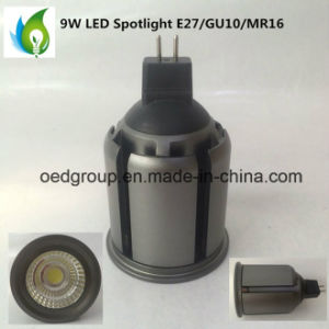 MR16 AC/DC12V 9W LED Spotlight with COB LED 900lm Can Be GU10 pictures & photos