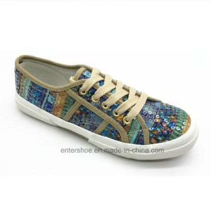 Superga Fashion Sequins Women Vulcanized Shoes (ET-OW170477W) pictures & photos
