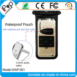 PVC Waterproof Pouch with Earphone Jack and Inner Cable
