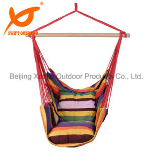 Outdoor Swing Rainbow Hammock Chair