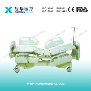 Deluxe Model, Motorized Five Functions Electric Hospital ICU Bed (XH-1) pictures & photos