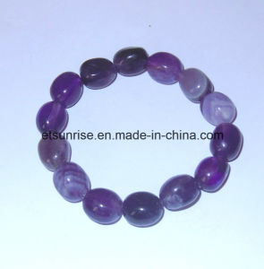 Natural Crystal Beaded Tumbled Nugget Bracelet pictures & photos