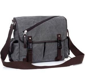 Men′s Canvas Messenger Bag (MB12569)