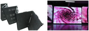 Huasun New Flexible LED Display Foldable LED Screen P6 Curved LED Screen pictures & photos