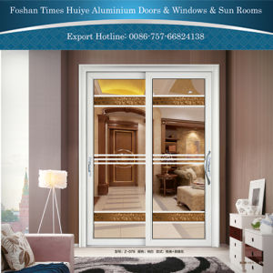 Aluminum Hanging Sliding Doors with Two Panels Double Glazing pictures & photos