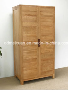 Solid Oak Wood Wardrobe with Good Quality (M-X1063) pictures & photos