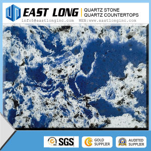 Blue Artificial Quartz Countertop/Colorful Marble Color Quartz Stone Slabs pictures & photos