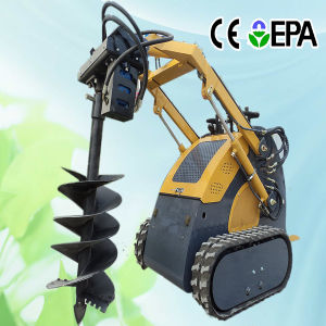 Mini Track Loader with Auger pictures & photos