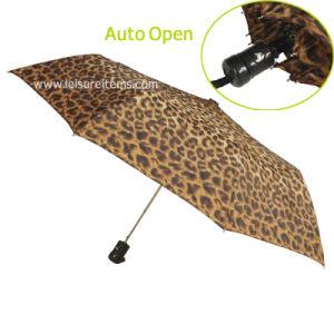 Auto Open Umbrella with Leopard Design pictures & photos