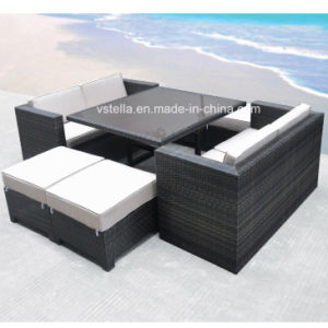 The Boca Grande Collection Cube Patio Outdoor Rattan Sofa Set