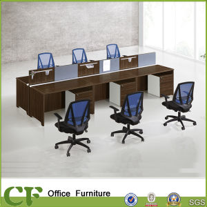 Wood Design 6 Seat Office Workstation (CF-P10101) pictures & photos