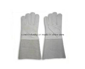 Cow Split Leather Welding Gloves 1403 pictures & photos